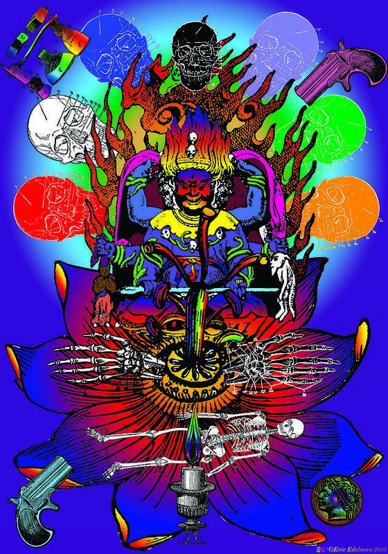 Eastern Poster featuring the digital art Kali Yuga by Eric Edelman