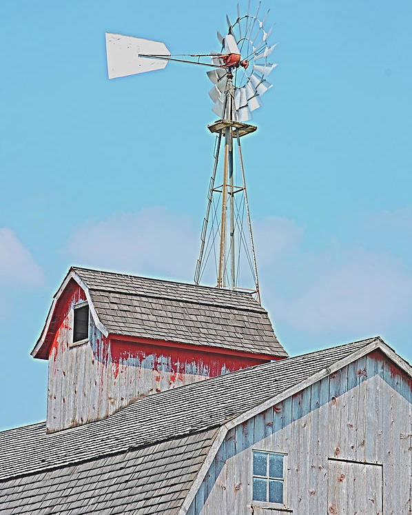 Kalona Poster featuring the photograph Kalona Barn by Jame Hayes