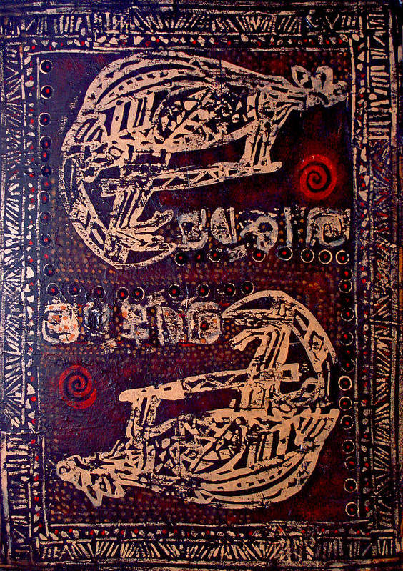 Tribal Poster featuring the painting Kangaroo by Dale Witherow