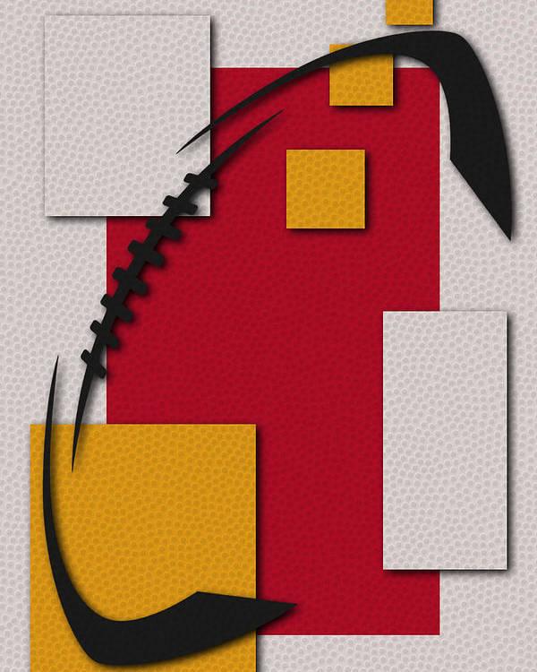 Chiefs Poster featuring the painting Kansas City Chiefs Football Art by Joe Hamilton