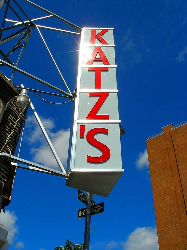 Art Poster featuring the photograph Katz's Ny Deli Sign by Candace Garcia