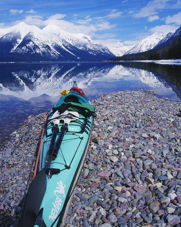 Adventure Poster featuring the photograph Kayak Ashore by Bill Brennan - Printscapes