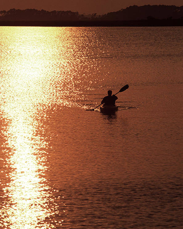 One Person Poster featuring the photograph Kayak, South Carolina by Dawn Kish