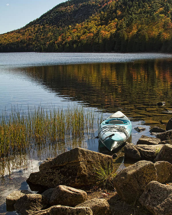 Landscapes Poster featuring the photograph Kayaking In Acadia by Alexander Mendoza