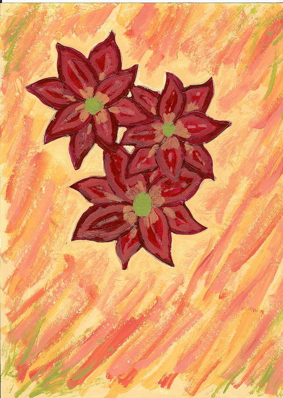 Flower Poster featuring the painting Kelli by Laura Lillo