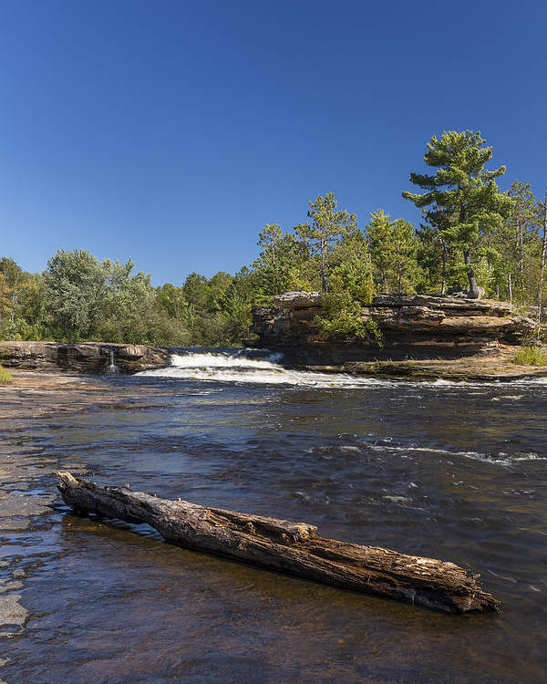 River Poster featuring the photograph Kettle River Big Spring Falls 7 by John Brueske