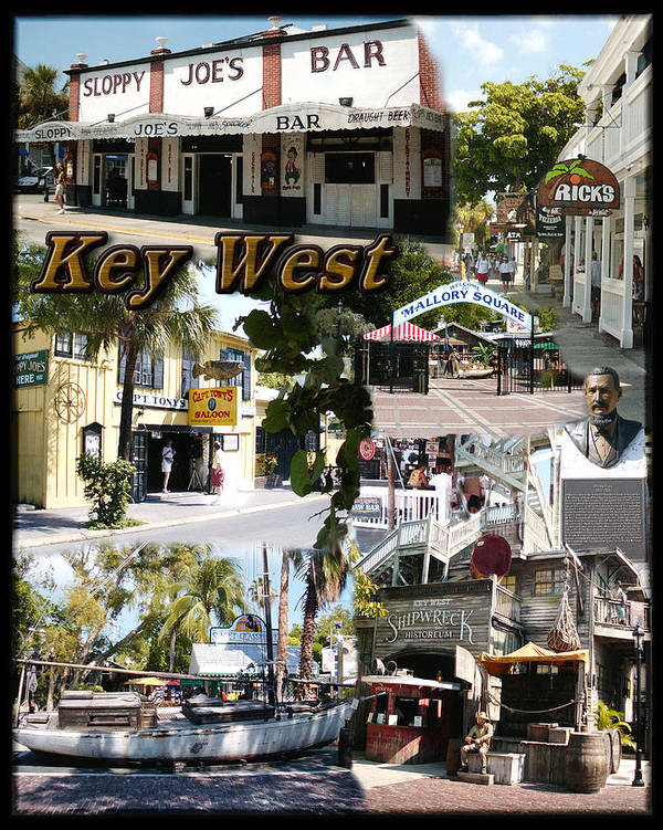 Key West Poster featuring the photograph Key West Collage by David Starnes