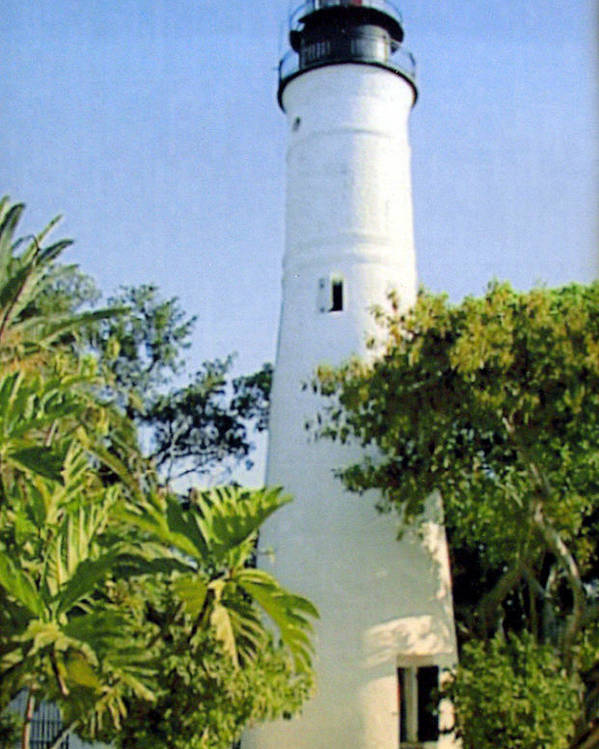 Lighthouse Photographs Poster featuring the photograph Key West Light by Frederic Kohli