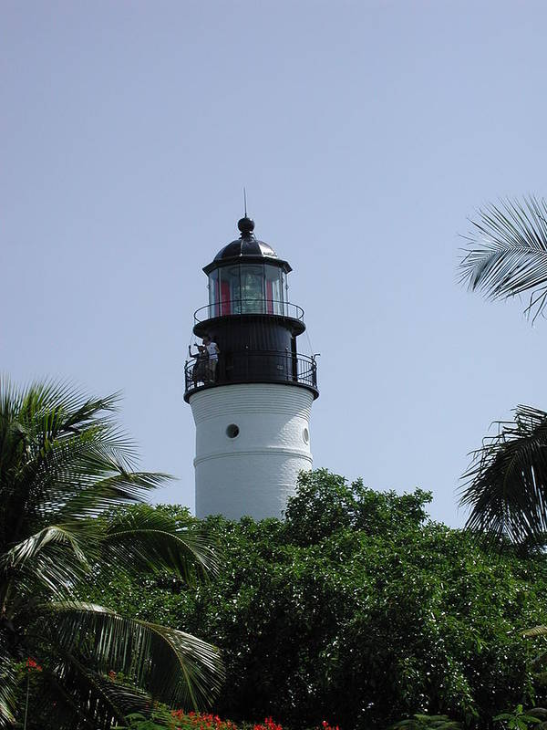Lighthouse Poster featuring the photograph Key West Lighthouse by Nancy Taylor