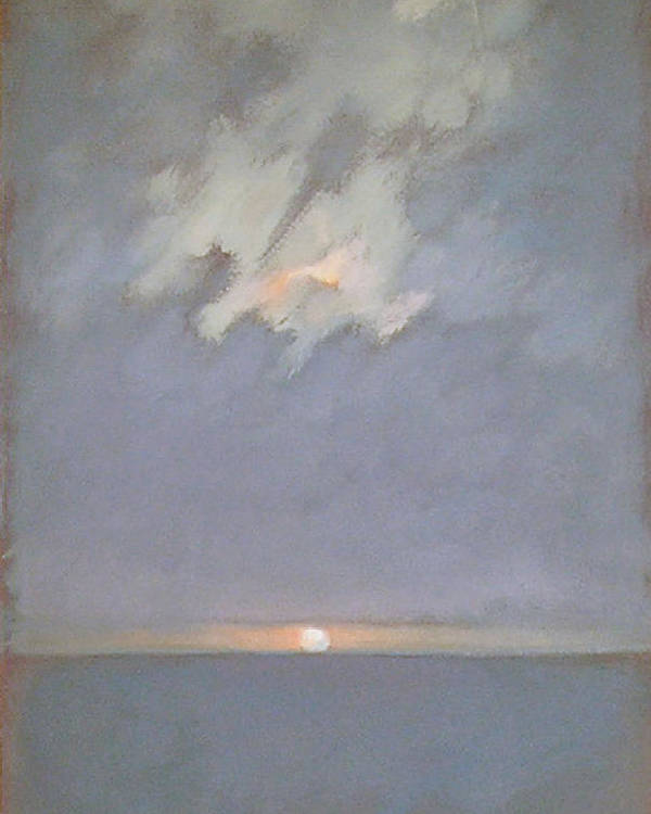 Seascape Poster featuring the painting Keyhole by Mary Brooking