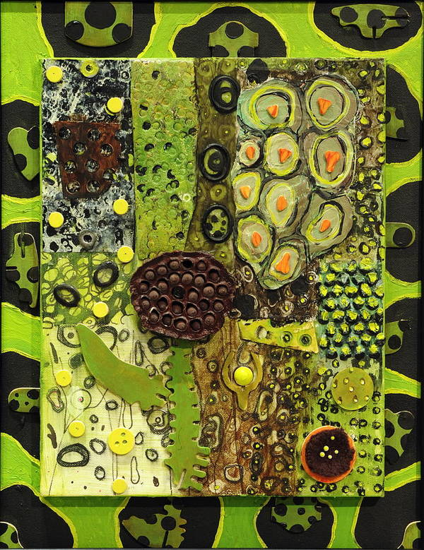 Plants Poster featuring the painting Kinetic Seeds I by Angela Dickerson