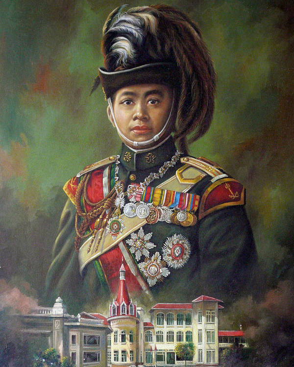 Oil Poster featuring the painting King Mongkut by Chonkhet Phanwichien