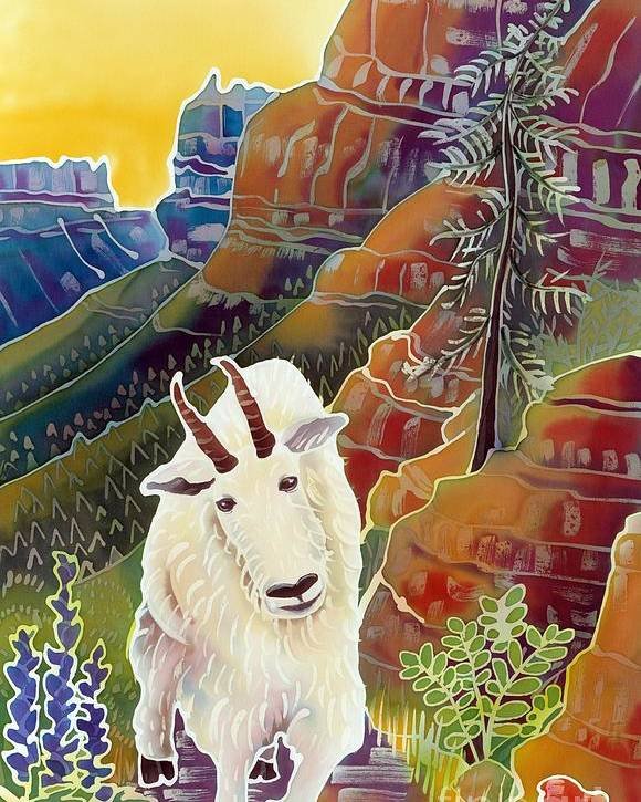 Mountain Goat Poster featuring the painting King Of The High Peaks by Harriet Peck Taylor