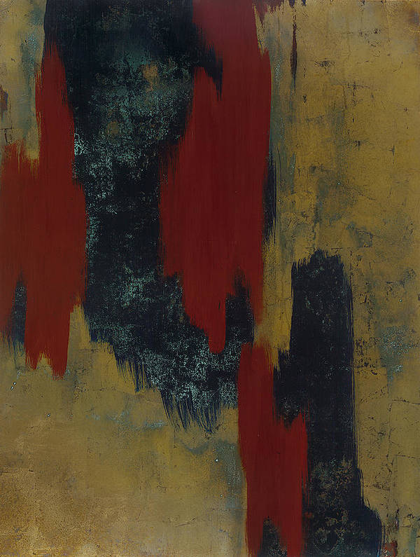 Abstract Poster featuring the painting Kline 1 by Wayne Berger
