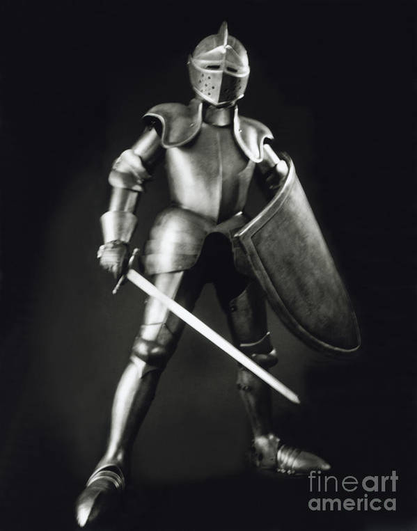 Knight Poster featuring the photograph Knight by Tony Cordoza