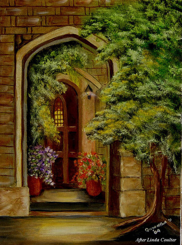 Door Poster featuring the painting Knight's Door by Quwatha Valentine
