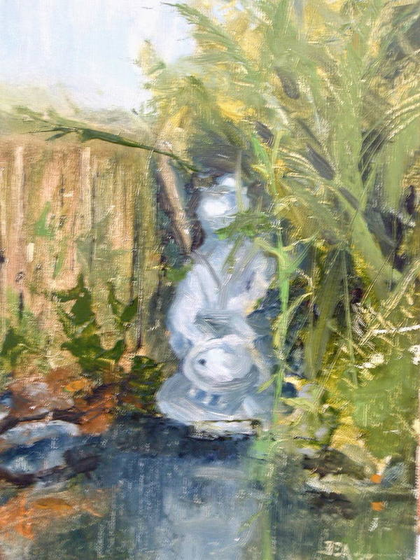 Still-life. Pond Koi Poster featuring the painting Koi Pond by Bryan Alexander