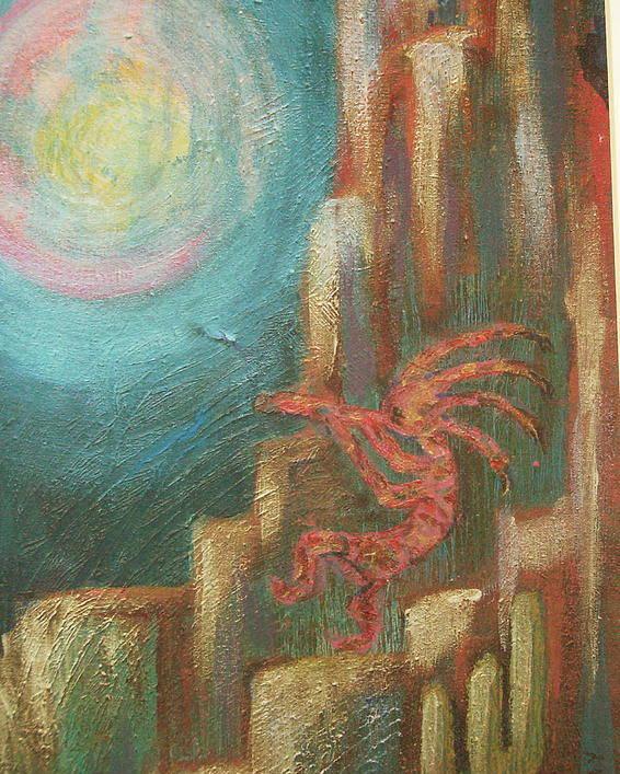 Kokopelli Poster featuring the painting Kokopelli Night Watch by Anne-Elizabeth Whiteway