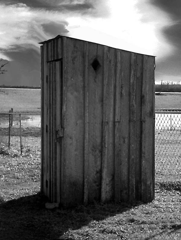 Ansel Adams Poster featuring the photograph Koyl Cemetery Outhouse5 by Curtis J Neeley Jr