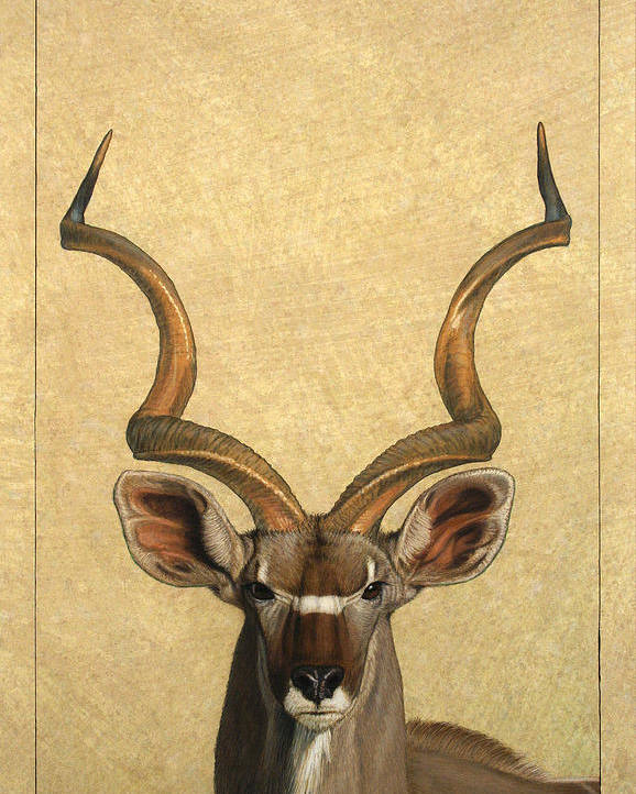 Kudu Poster featuring the painting Kudu by James W Johnson