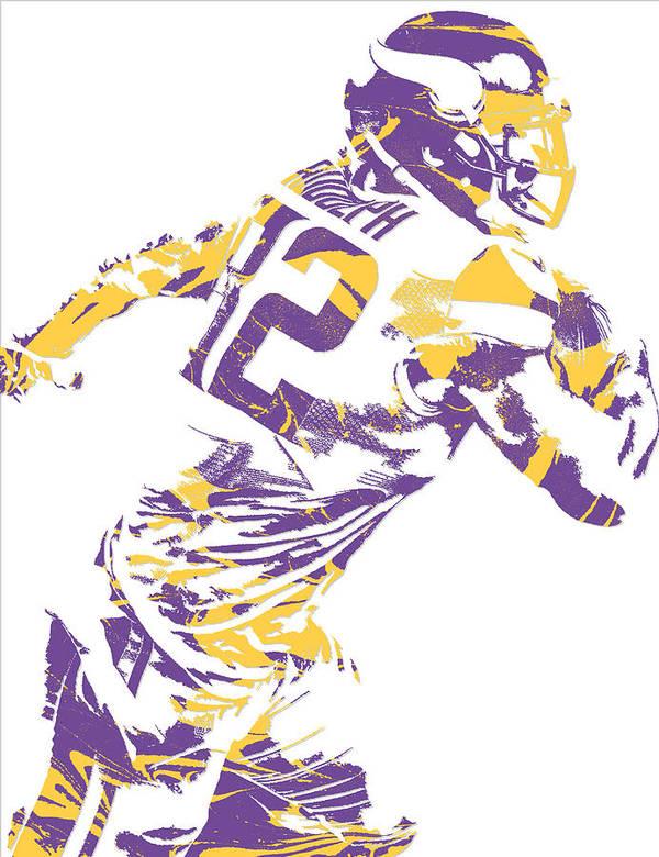 sports shoes 59a5c 5fc07 Kyle Rudolph Minnesota Vikings Pixel Art 5 Poster