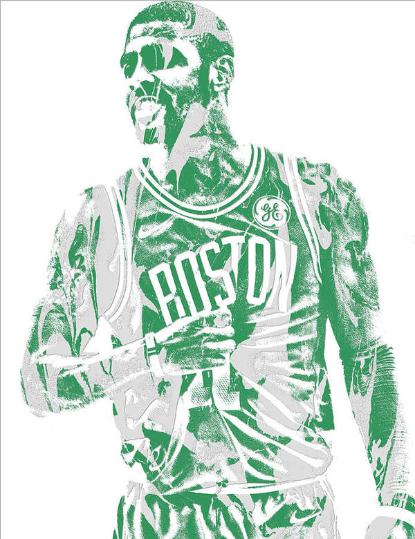 95e5b533817e Kyrie Irving Boston Celtics Pixel Art 7 Poster by Joe Hamilton