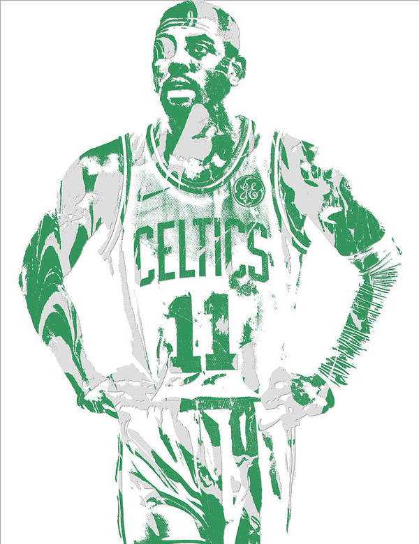 02b374fc73e1 Kyrie Irving Poster featuring the mixed media Kyrie Irving Boston Celtics  Pixel Art 8 by Joe