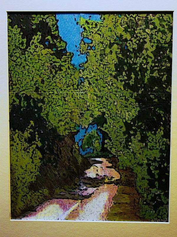 Watercolor Poster featuring the mixed media La Romita Road by Tom Herrin