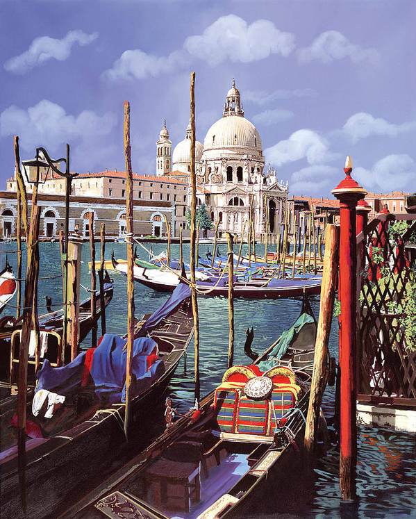 Church Poster featuring the painting La Salute by Guido Borelli