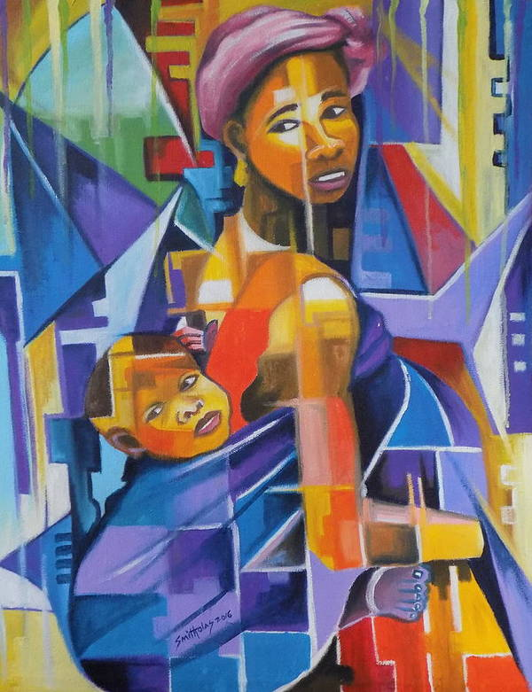 Ladies Poster featuring the painting Pride Of African Woman by Olaoluwa Smith