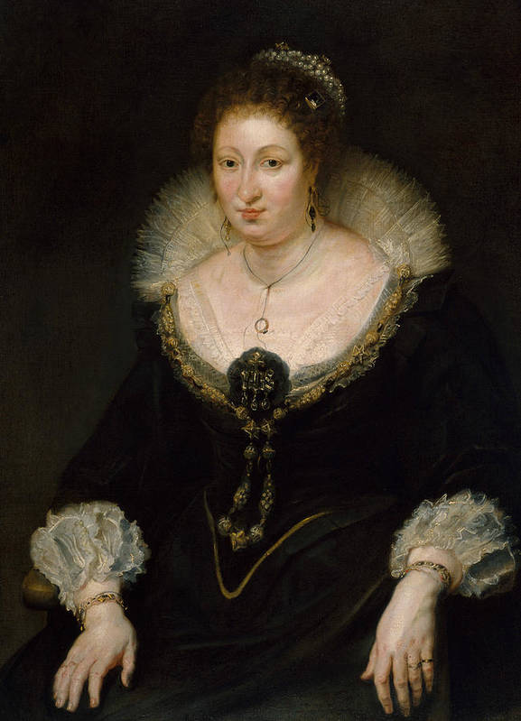 Peter Paul Rubens Poster featuring the painting Lady Alethea Talbot, Countess Of Arundel by Peter Paul Rubens