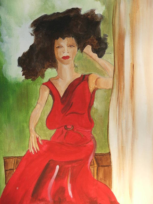 Painting Poster featuring the painting Lady In Red by Taylor Lacey