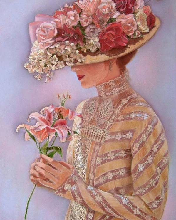 Elegant Poster featuring the painting Lady Jessica by Sue Halstenberg