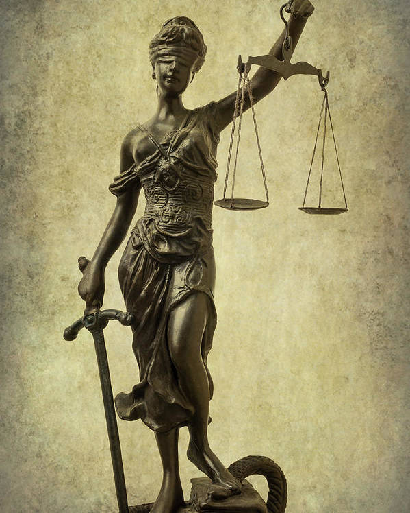 Lady Justice Poster by Garry Gay