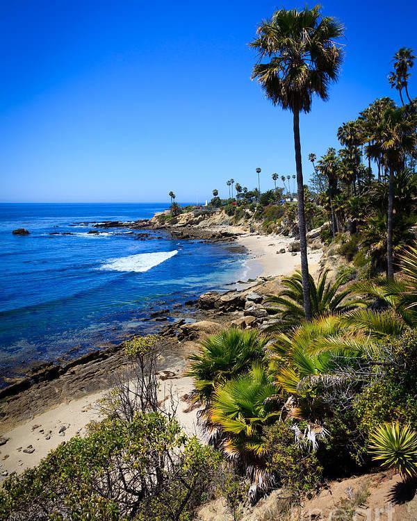 America Poster Featuring The Photograph Laguna Beach California Beaches By Paul Velgos