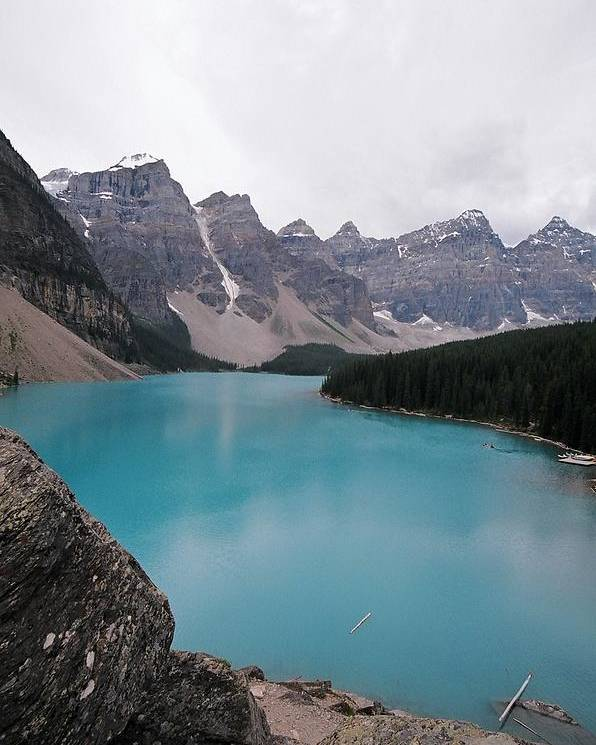 Landscape Poster featuring the photograph Lake Moraine by Caroline Clark