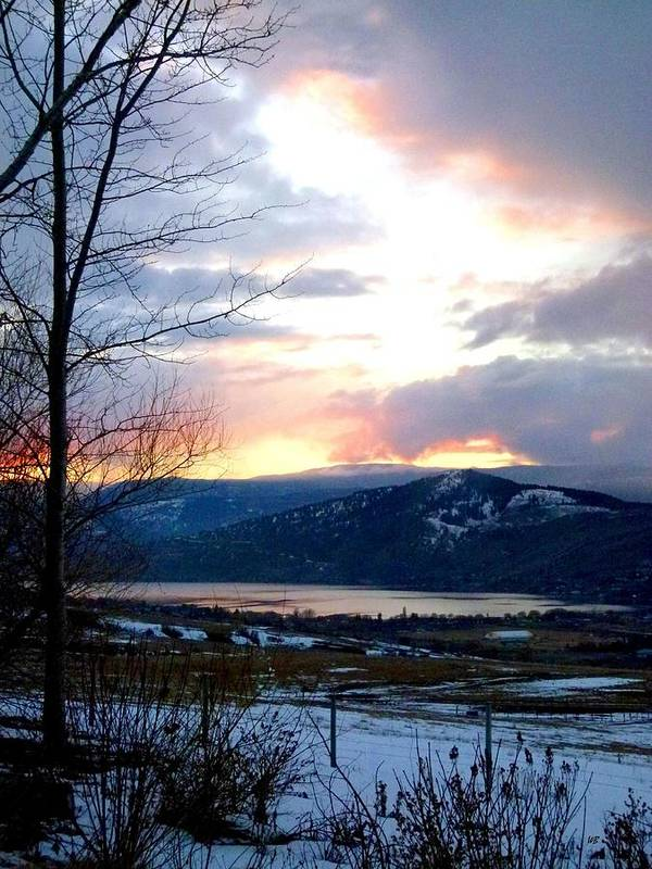 Sunset Poster featuring the photograph Lake Okanagan Sunset At Vernon by Will Borden
