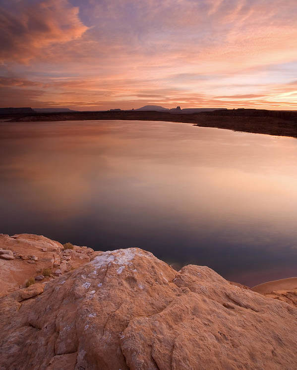 Lake Powell Poster featuring the photograph Lake Powell Dawn by Mike Dawson