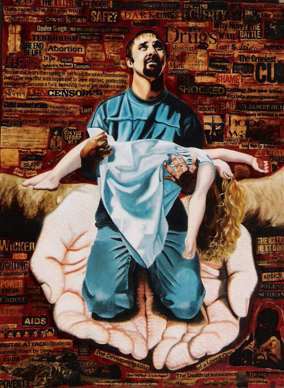 Lamentations Poster featuring the painting Lamentations by Teresa Carter