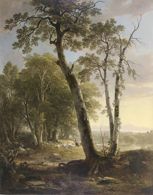 Landscape Poster featuring the painting Landscape by Asher Brown