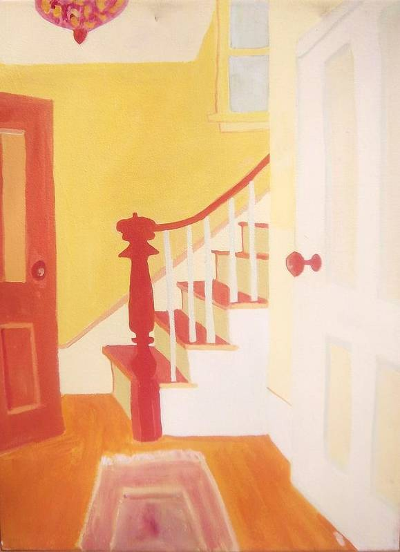 Interior Poster featuring the painting Lanesville Hallway by Debra Bretton Robinson