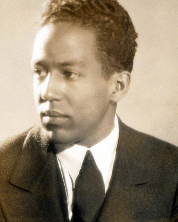 African American Poster featuring the photograph Langston Hughes by Everett