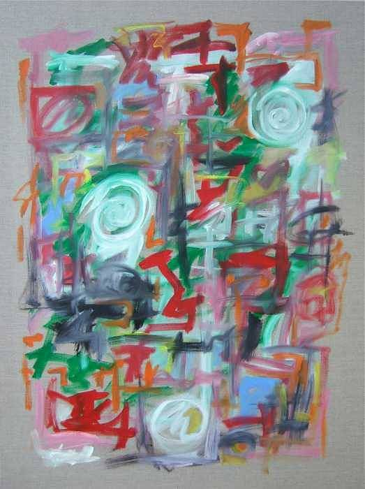 Abstract Poster featuring the painting Large Abstract No 2 by Michael Henderson