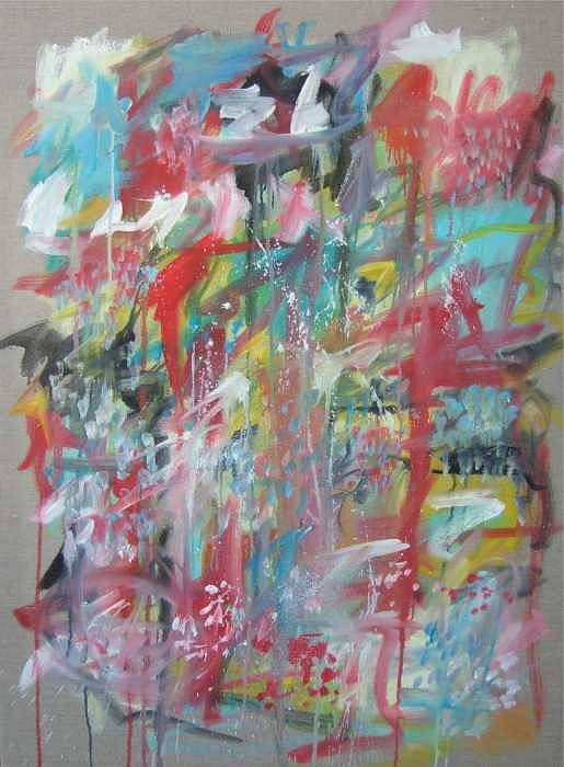 Abstract Poster featuring the painting Large Abstract No 3 by Michael Henderson