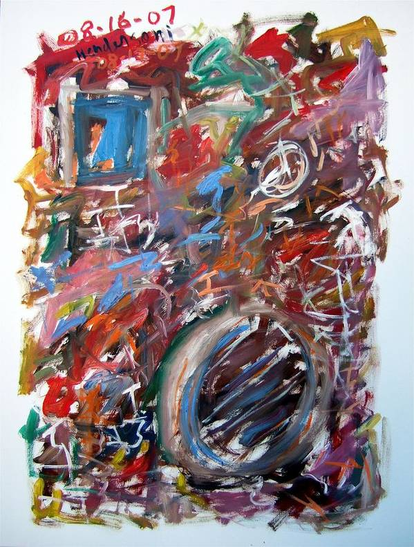 Abstract Poster featuring the painting Large Abstract No. 6 by Michael Henderson