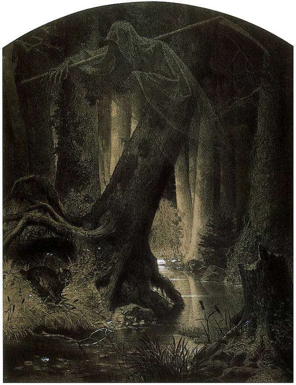 Arthur Grottger Poster featuring the painting Large Forest by Arthur Grottger
