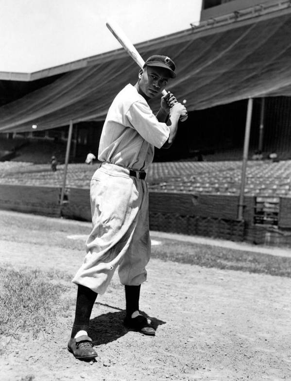 1940s Portraits Poster featuring the photograph Larry Doby, Circa 1947 by Everett