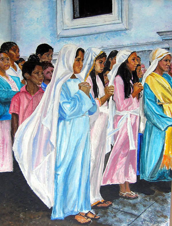 Posada Poster featuring the painting Las Marias by Sarah Hornsby
