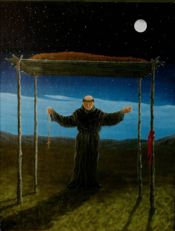 Ceremony Poster featuring the painting Last Rites by Arnold Isbister