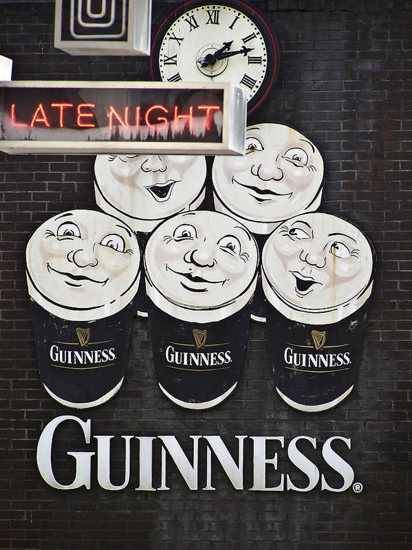 Guinness Poster featuring the photograph Late Night Guinness Limerick Ireland by Teresa Mucha